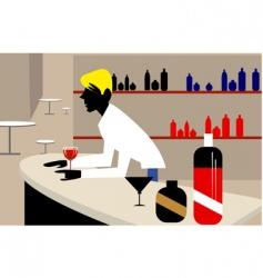 man and bar vector image