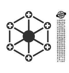 Medical network icon with men bonus vector