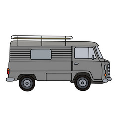 old gray minivan vector image