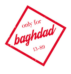 Only for baghdad rubber stamp vector