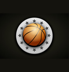 premium basketball label vector image vector image