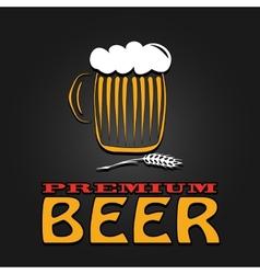 premium beer mug barley vintage design poster vector image