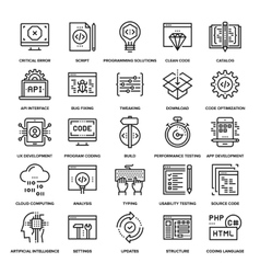 Program coding icons vector