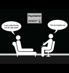 Psychiatrist friends vector