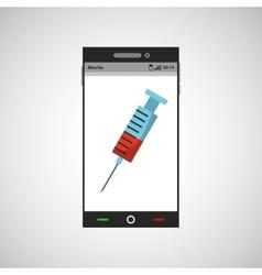 Smartphone service medical icon vector