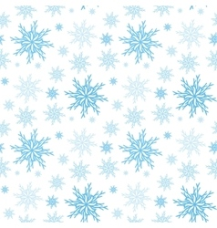 Snowflake seamless background New year pattern vector image vector image