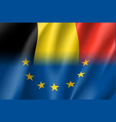 Symbol belgium is eu member vector