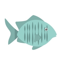 Tropical fish sea habitat graphic vector