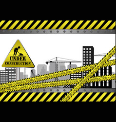 Under construction site vector