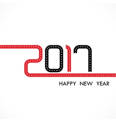 201 and 7 with holiday background vector