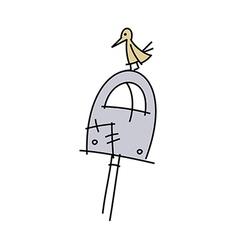 icon postbox vector image