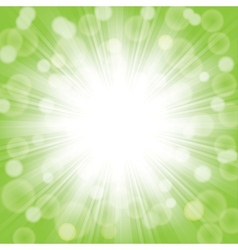 Green sunlight vector