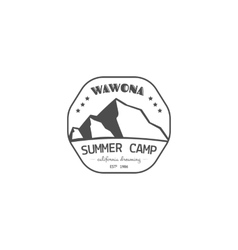 Vintage summer or winter camping badge outdoor vector