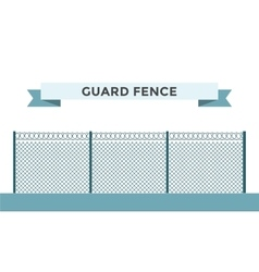 Metallic fence isolated on background vector image
