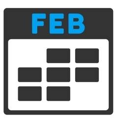 February flat icon vector