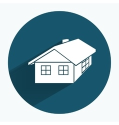 House icon building household comfort real estate vector