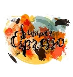 Summer espresso lettering vector