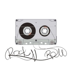 Rock music cassette vector