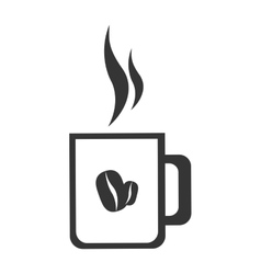Fresh and hot coffee cup vector