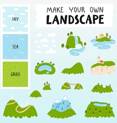 Landscape constructor vector image
