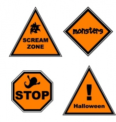 Halloween road signs vector