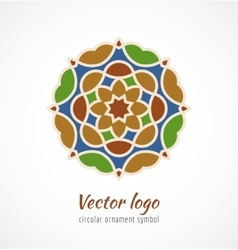 Abstract colorful asian ornament symbol logo vector