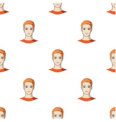 Avatar of a man with orange hairavatar and face vector