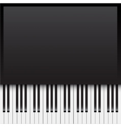 Background with piano keys vector image