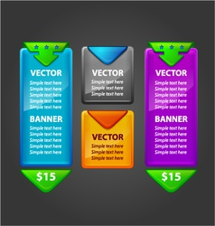 Banner Set for sale or download vector image