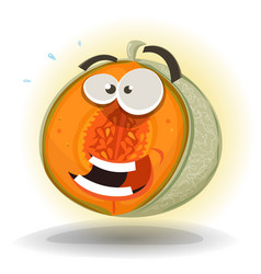 Cartoon funny melon character vector