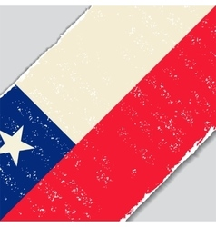 Chilean grunge flag vector
