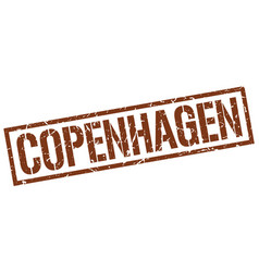 Copenhagen brown square stamp vector