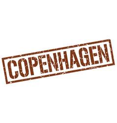 copenhagen brown square stamp vector image vector image
