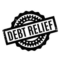 Debt relief rubber stamp vector