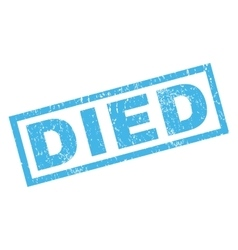 Died rubber stamp vector