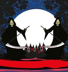 Grim reaper card vector