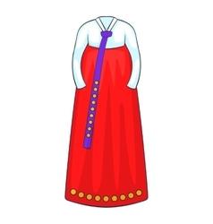 Korean traditional dress icon cartoon style vector