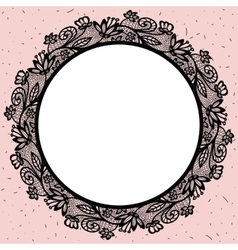 Lacy round frame vector image vector image