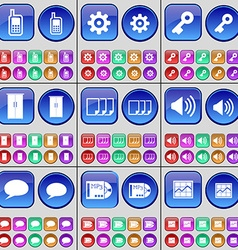Monitor gear key cupboard files sound chat bubble vector