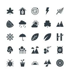 Nature Cool Icons 2 vector image vector image