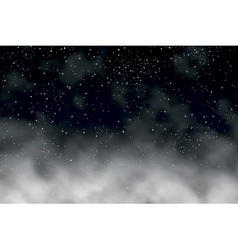night clouds vector image
