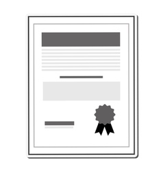 Paper certificate icon vector