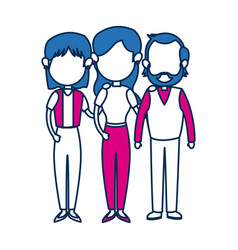 People family member together character image vector