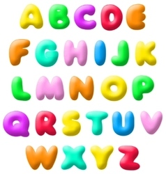 Plasticine font vector