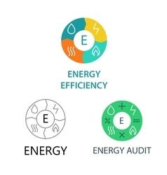 Set template logos for energy companies vector