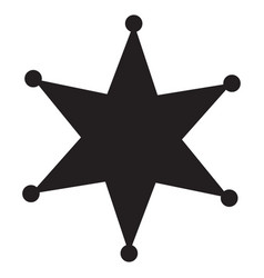 Sheriff star icon in trendy flat style isolated vector