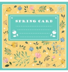 Spring card on the floral background vector