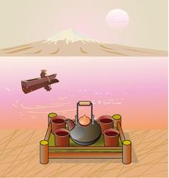 Tea ceremony Menu Coffee vector image vector image