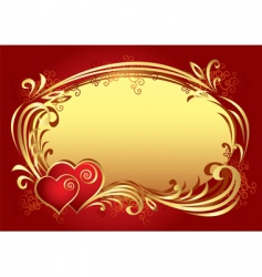 valentine frame background v vector image vector image
