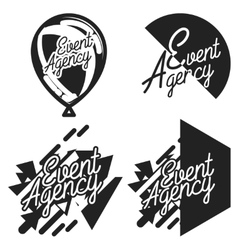 Vintage event agency emblems vector